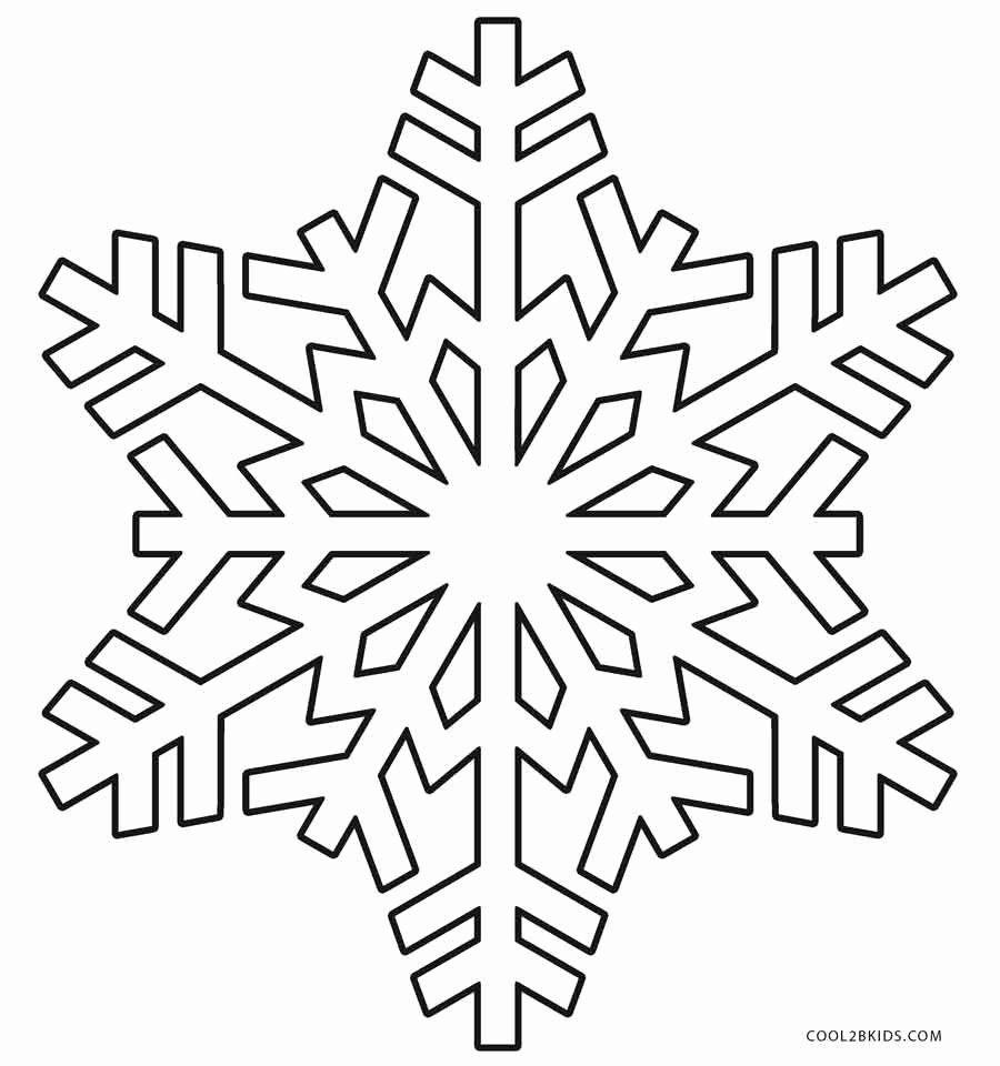 Snowflakes Printable Coloring Pages Elegant Printable
