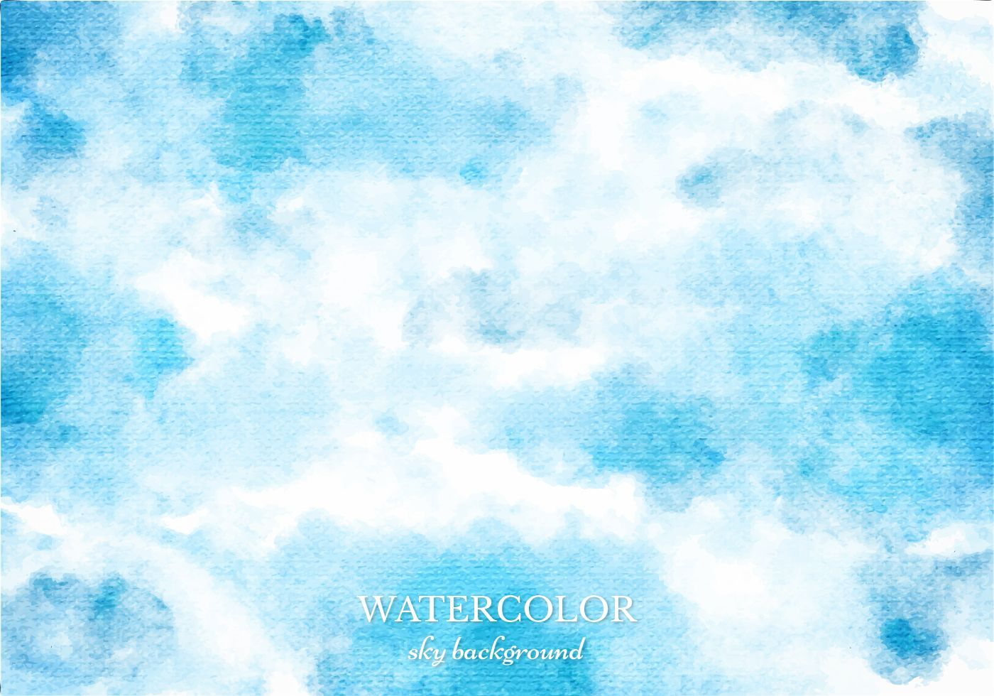 Free Vector Blue Watercolor Sky Background Jpg 1400 980
