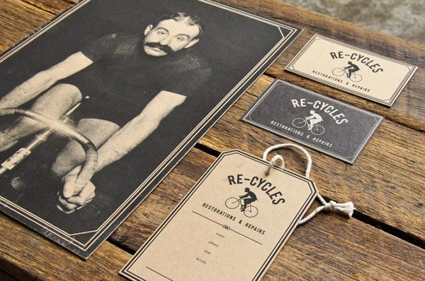 Vintage Identity Design for Re-Cycles by Studio 'And'
