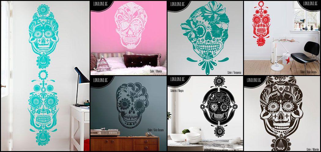vinilos decorativos calaveras mexicanas - Buscar con Google