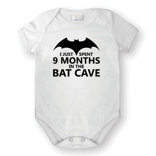 Baby Grow I Spent 9 Months In The batcave Maternity Baby Shower Gift