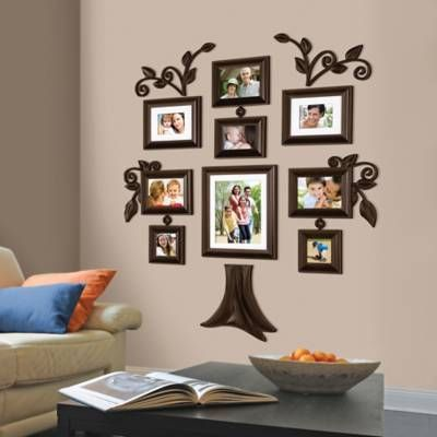 Product Image For Wallverbs Family Tree 9 Piece Family