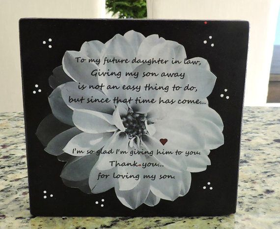 Future Daughter In Law Gift Welcome To The Family Gift Bridal
