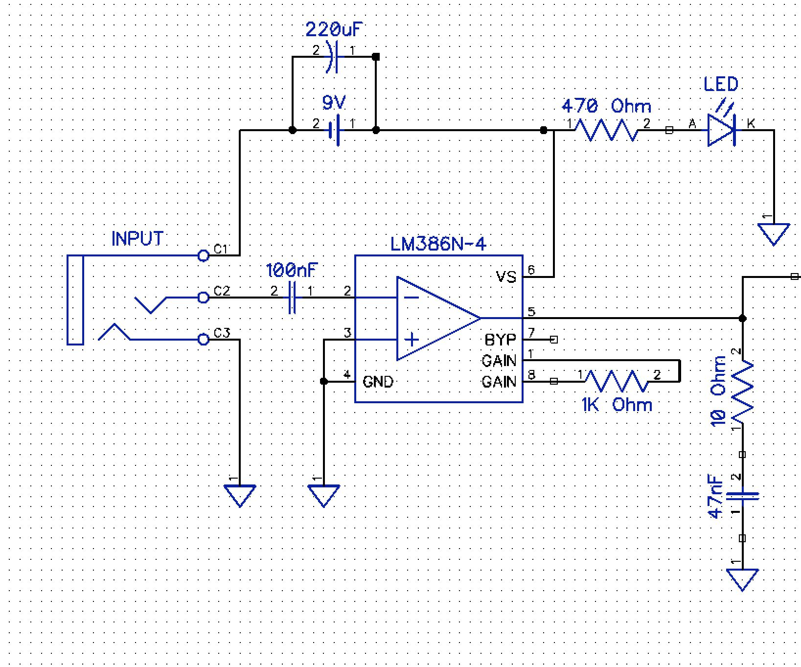 small resolution of from schematic to protoboard building a simple lm386 guitar amp on a dip protoboard