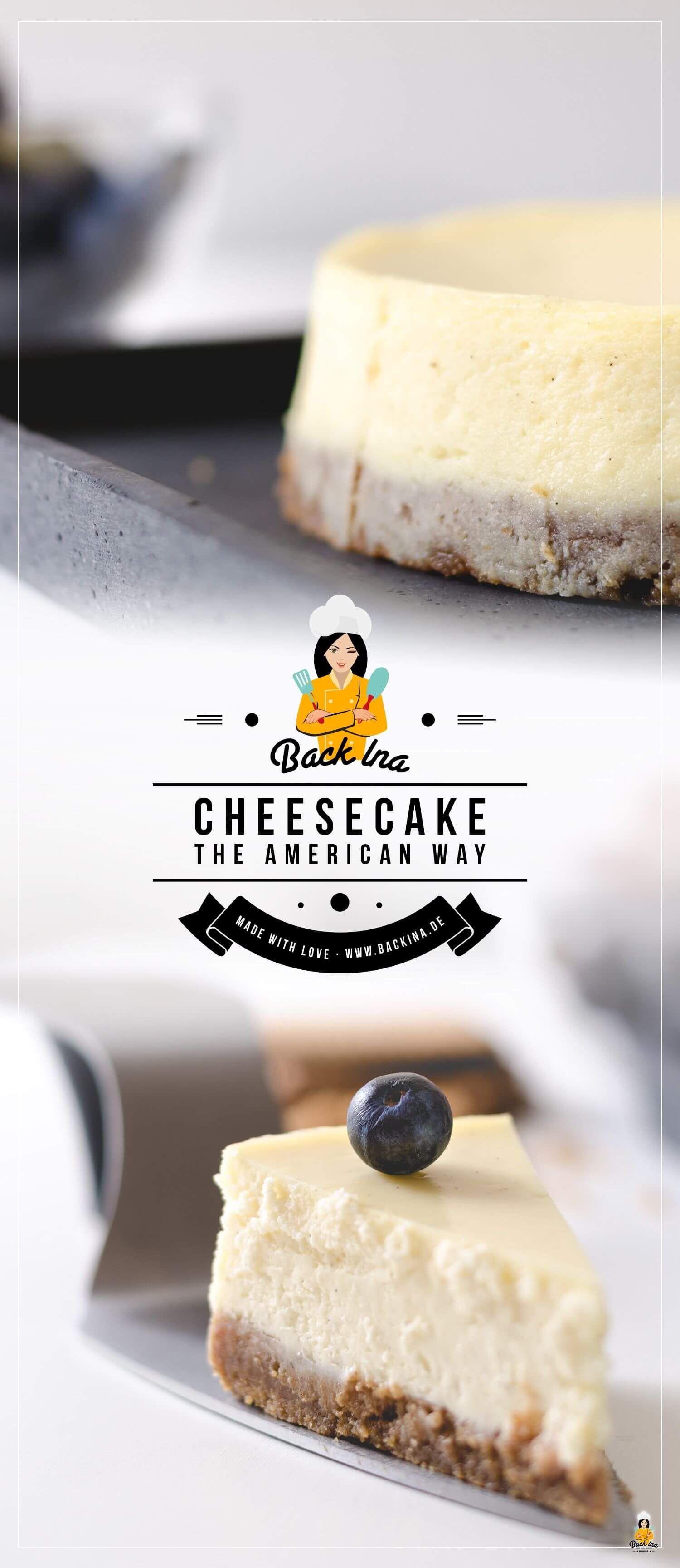 Cremiger American Cheesecake nach klassischer Art | BackIna.de