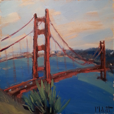 Heidi Malott Original Paintings: Golden Gate Good Morning Original Oil Painting Imp...