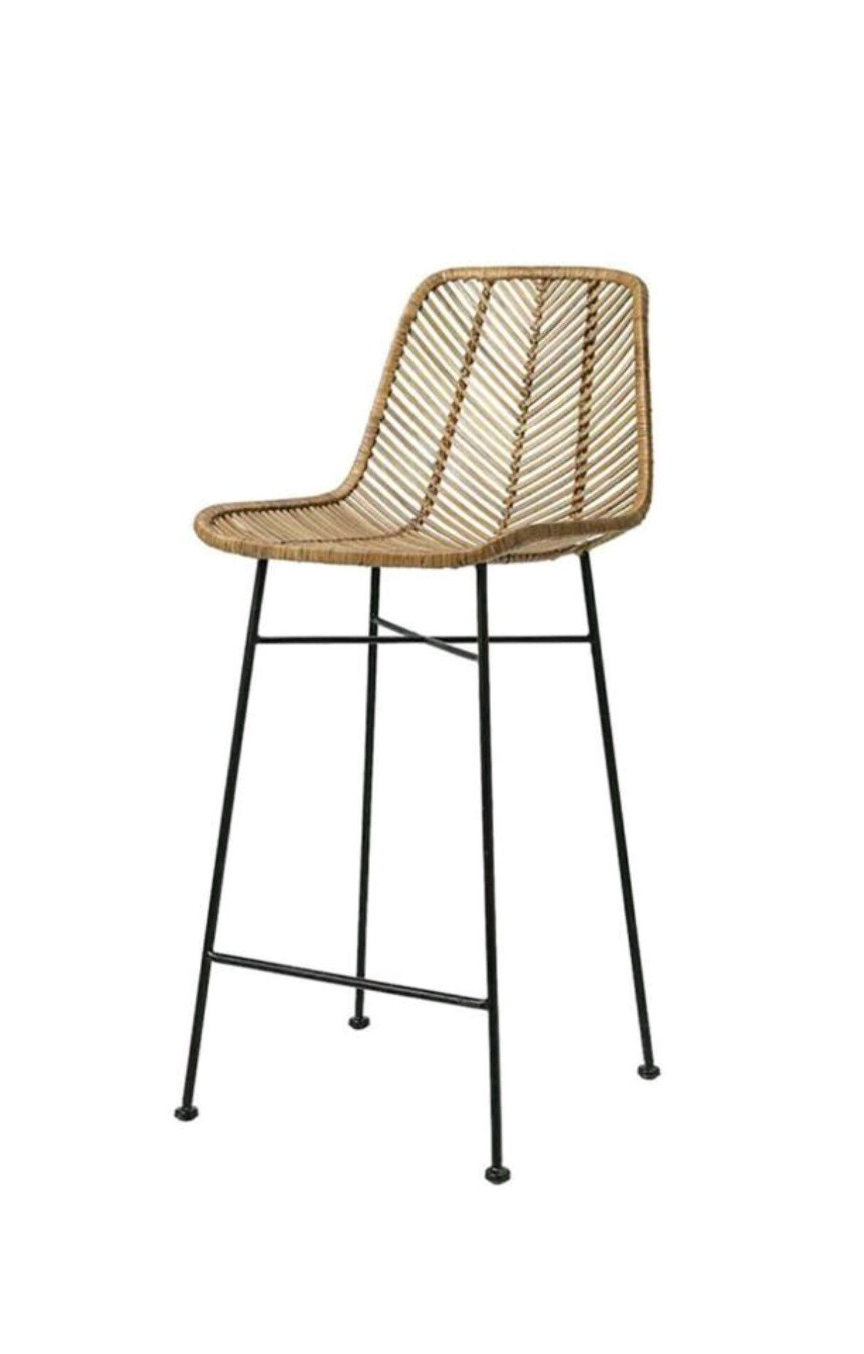 Pleasing Hk Living Bar Kruk Chair In 2019 Rattan Bar Stools Bar Gmtry Best Dining Table And Chair Ideas Images Gmtryco