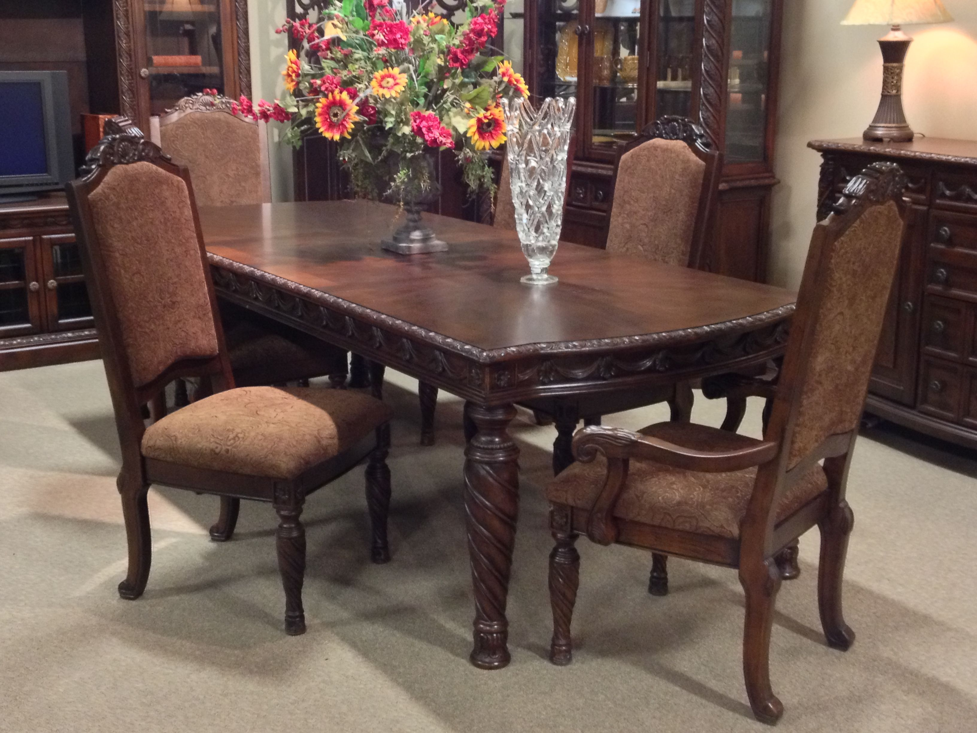 North Shore 7 Piece Dining Room Set At Ashley Furniture