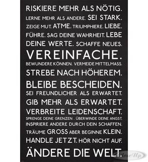 Motivations Poster Riskiere mehr als nötig Hier bei www.closeup.de