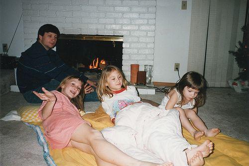 Masha, Lyuba, Dasha and Sanya at Middlefield 1997