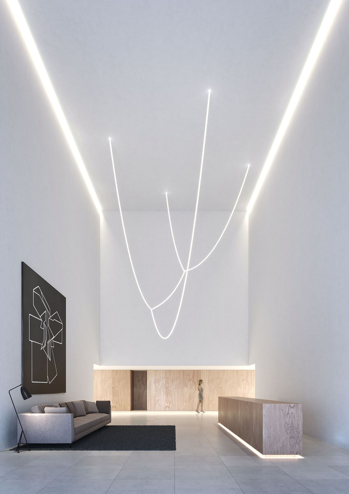 Fran Silvestre Arquitectos Unveils Kouros Tower With Clean Curves In Valencia Minimal House Design Lighting Design Interior Minimalism Interior