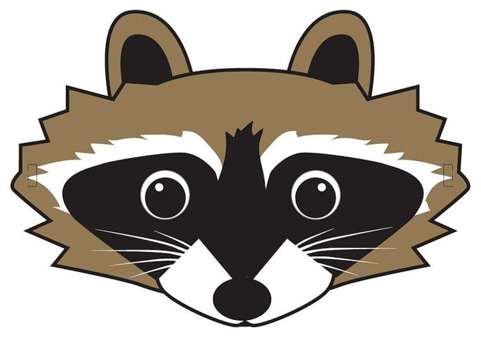 64 Free Kids Face Masks Templates For Halloween To Print Raccoon
