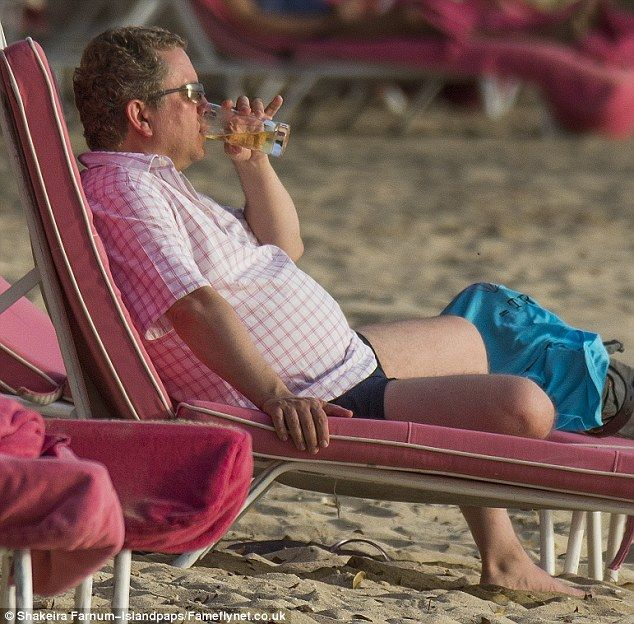 British comedian Jon Culshaw looks chilled while holidaying in #Barbados