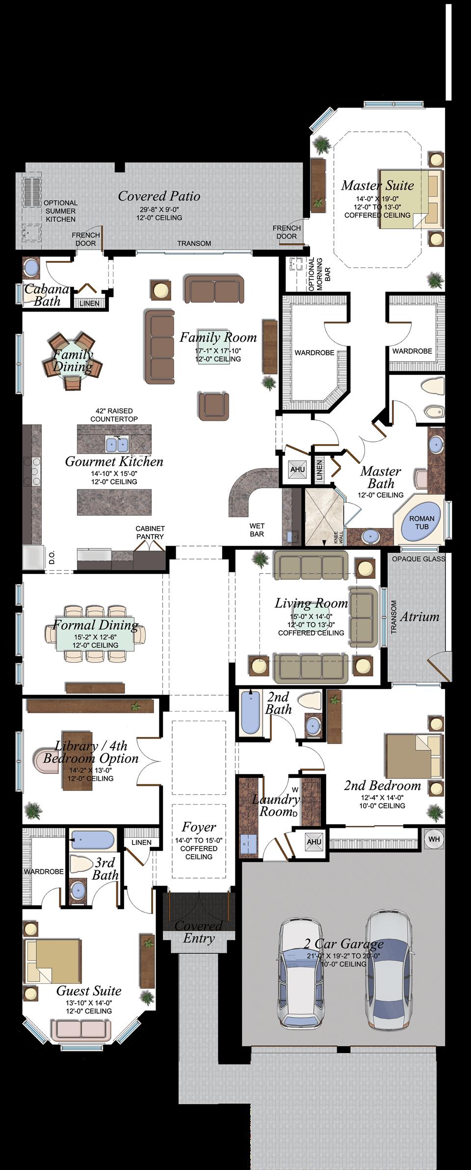 Seven Bridges Paseo Floorplan House Plans Florida Real Estate Floor Plans