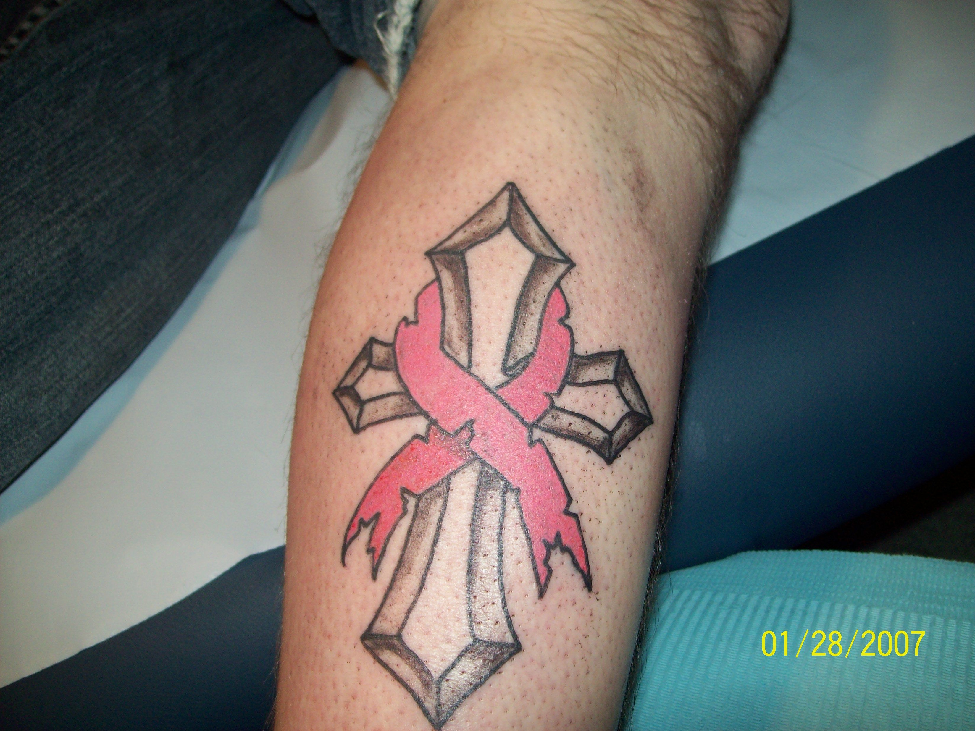 Pages Cancer Ribbon Cross Tattoos I14 Free Download Tattoo Wallpaper