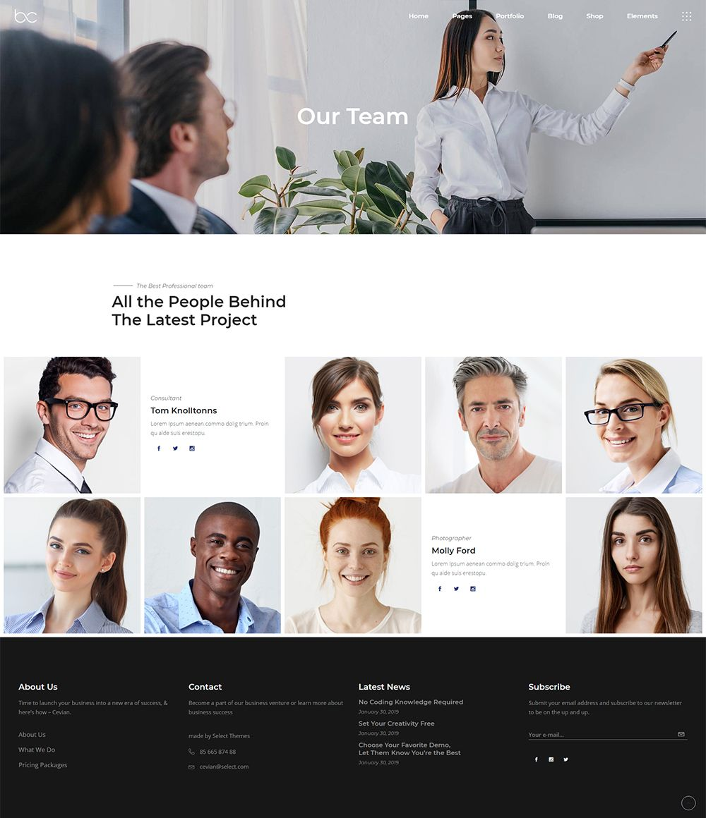 Our Team Online Presentation Web Design How To Introduce Yourself