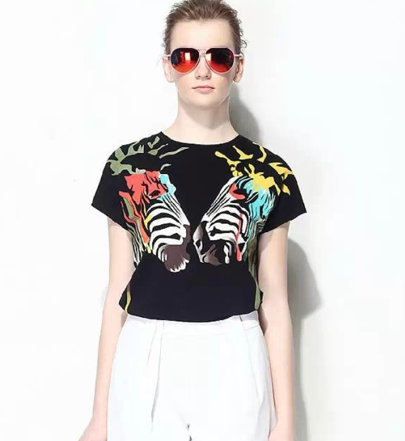 $9.59 Cotton Fashion Zebra Graffiti Pattern Round Neck Casual Black T-shirt Women Tees http://www.eozy.com/cotton-fashion-zebra-graffiti-pattern-round-neck-casual-black-t-shirt-women-tees.html