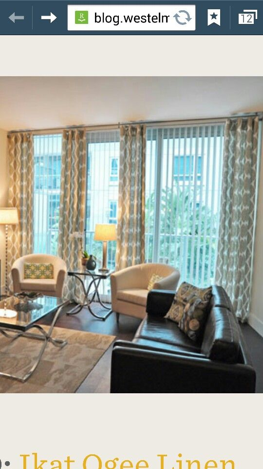 Curtain Rod To Go Over Vertical Blinds Google Search Tringle