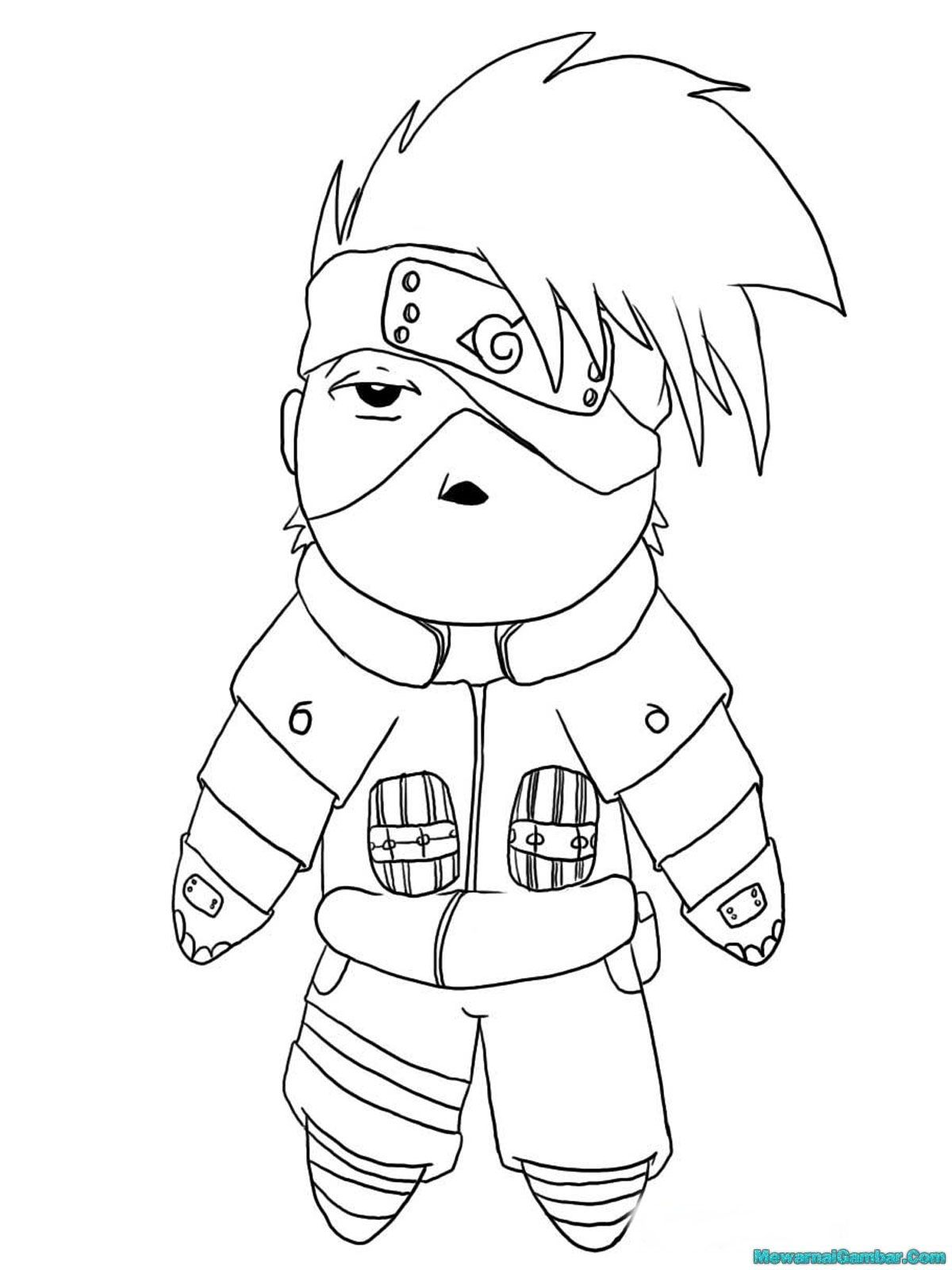 kakashi printable kids coloring pages naruto shippuden jpg 1200