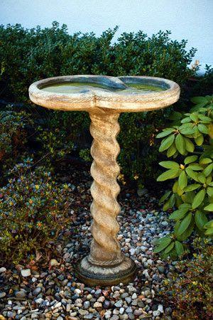 One Piece Spiral Birdbath Atlanta Water Gardens