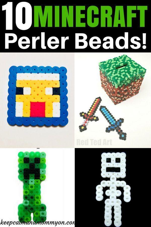 10 Minecraft Perler Beads Perler Beads Minecraft Perler
