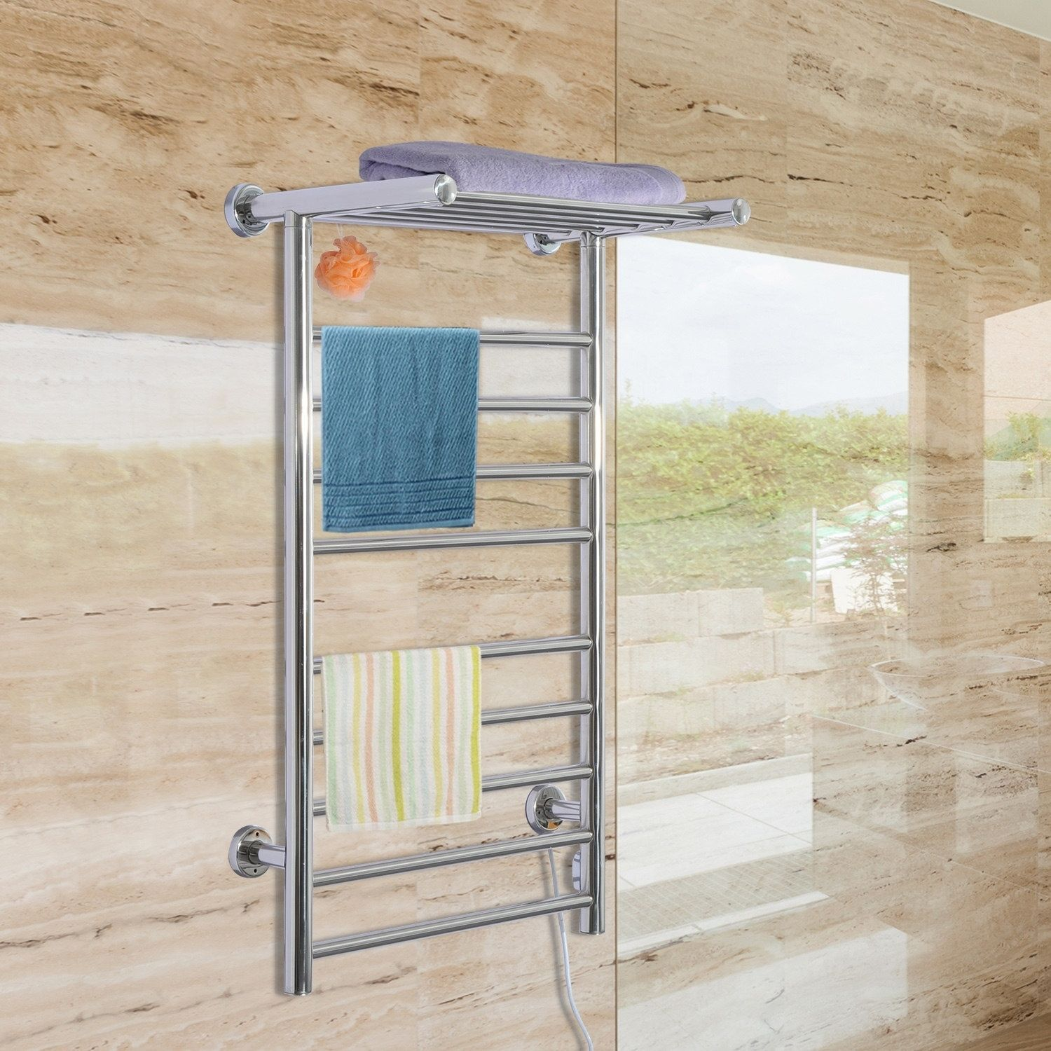 9Bar Stainless Steel Wall Mounted Heated Towel