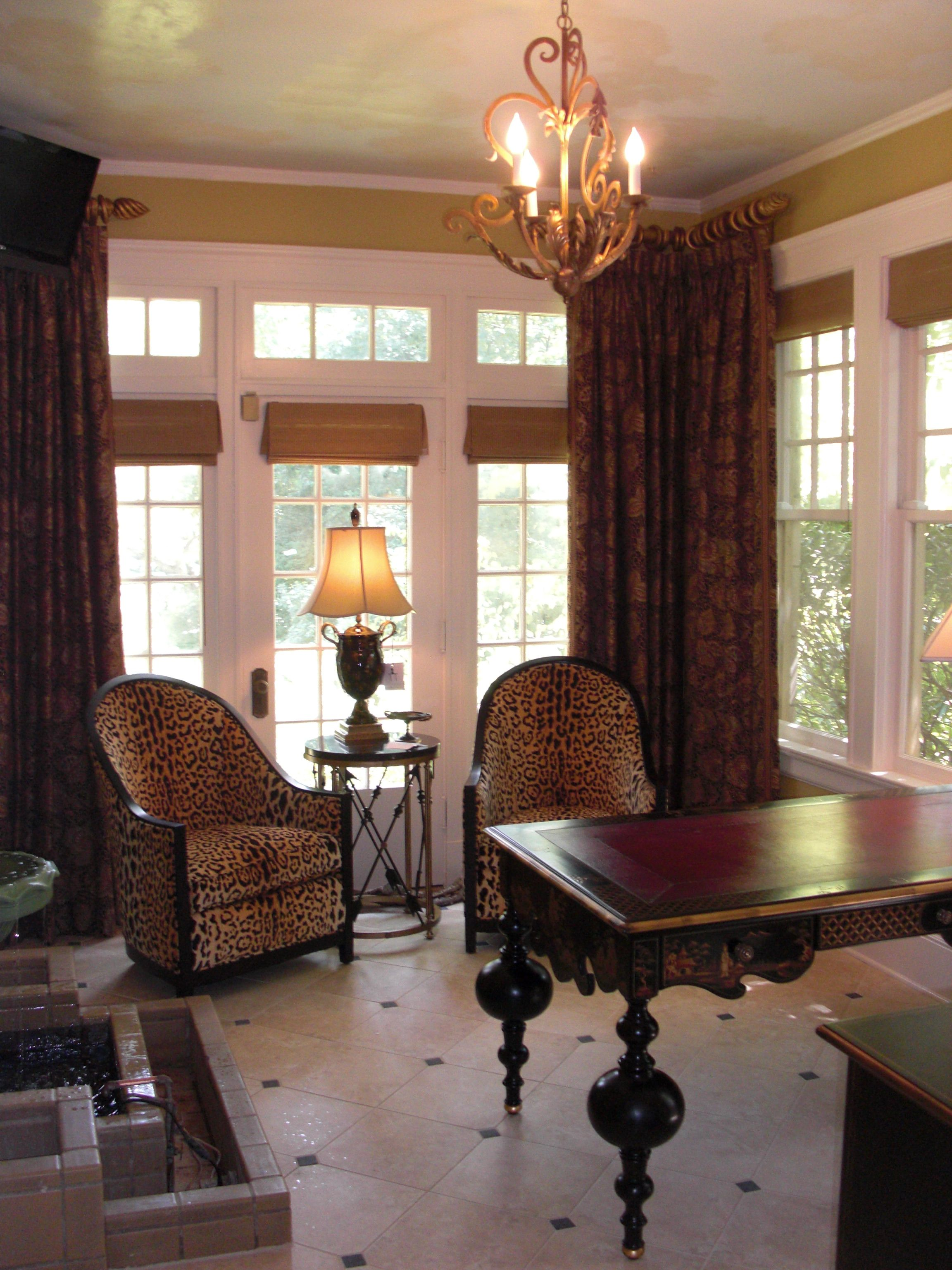 Memphis Sunroom-Study. Like the window treatments lc   For the Home ...