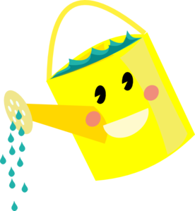 smiling watering clip art