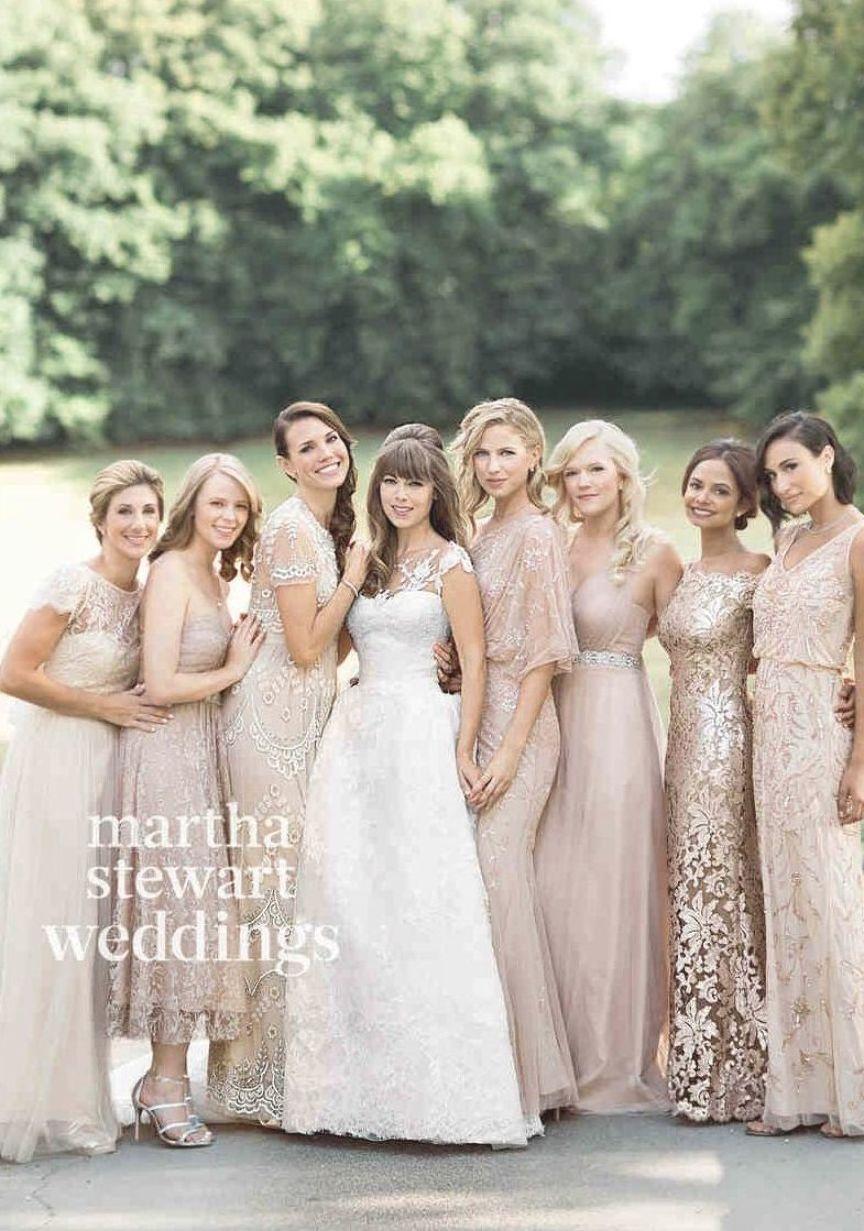 Mix matched bridesmaid dresses   Neutral bridesmaid dresses ...