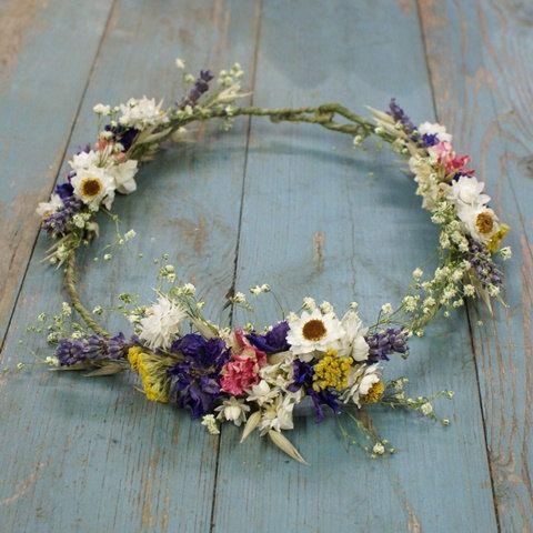 Festival Meadow Dried Flower Hair Crown