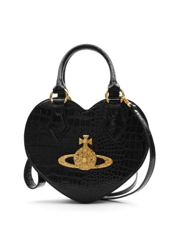 Chancery Black Heart Bag With Gold Orb From Vivienne Westwood