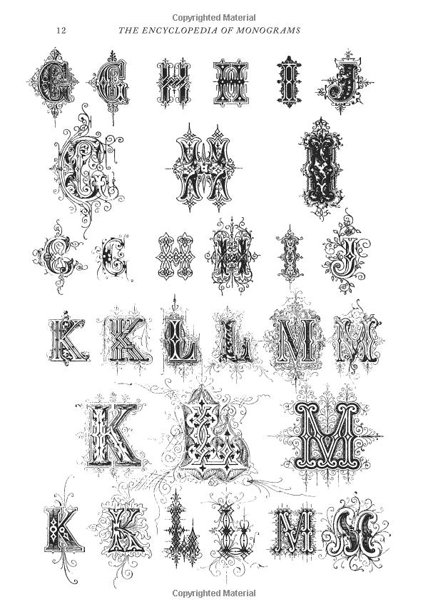 Robot Check Monogram Graphic Book Monogram Fonts