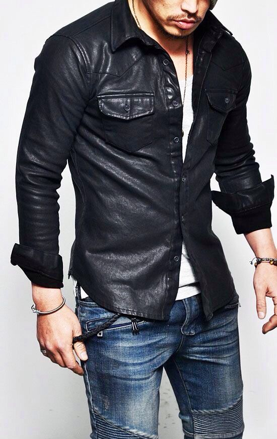43cfe5e5 Leather Mens Leather Shirt, Men's Leather, Real Leather, Leather Jacket,  Leather Fashion