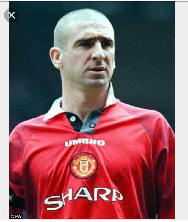 Frenchman won four league titles in his five. Eric Cantona United Legend!