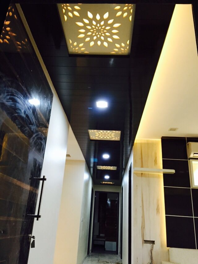Room Showcase Designs Recommended Mdf Living: Path Ceiling With Veneer And MDF Jaali In Between In 2019