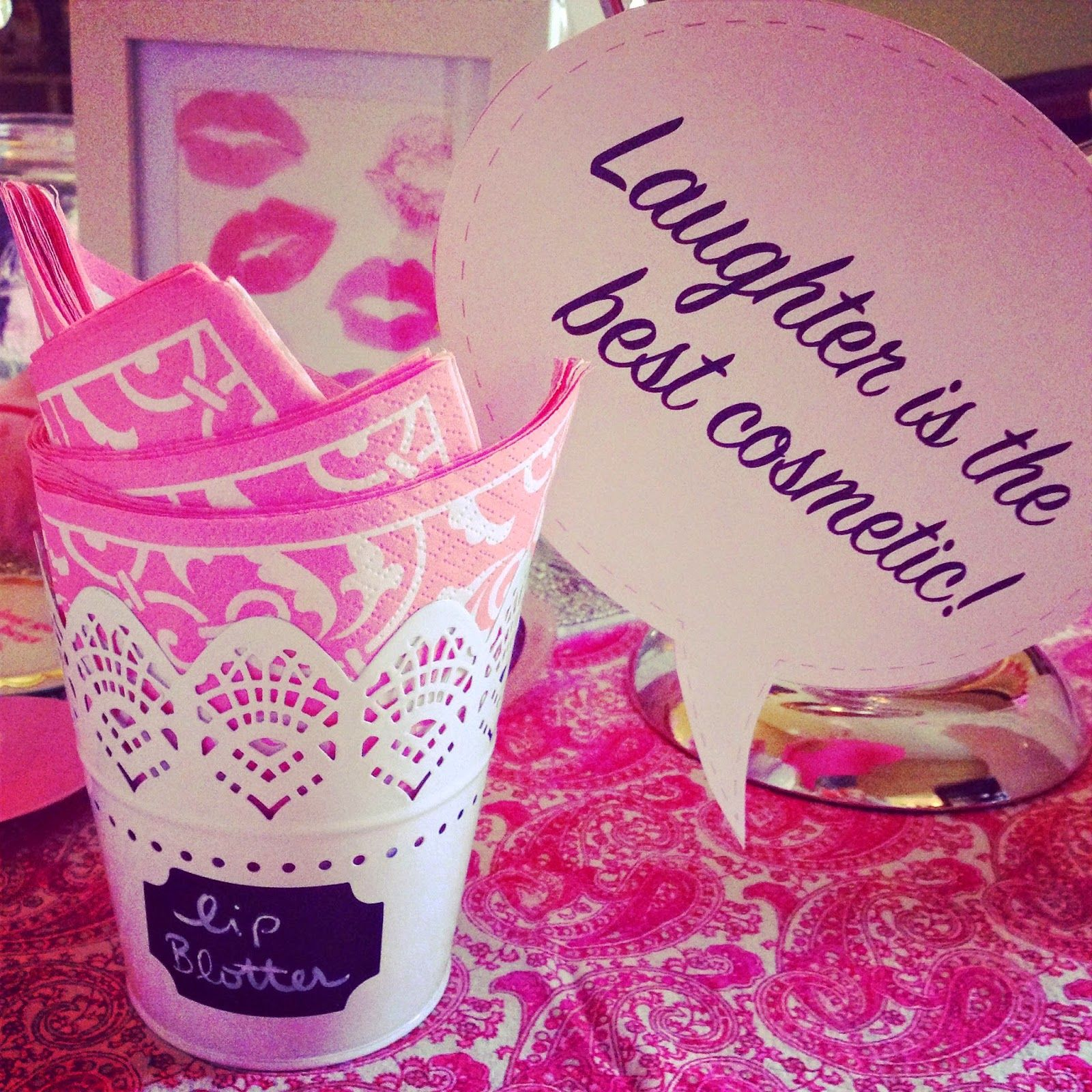 Beauty Bash - girlie party ideas!  Lip Blotter