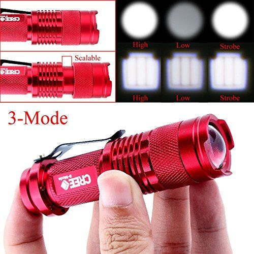 Introducing Your Supermart Mini 1200lm Cree Q5 Led Zoomable 3 Modes Flashlight Hiking Torch Lamp Red Great Product And Follow Us To Get More Updates Lanterna