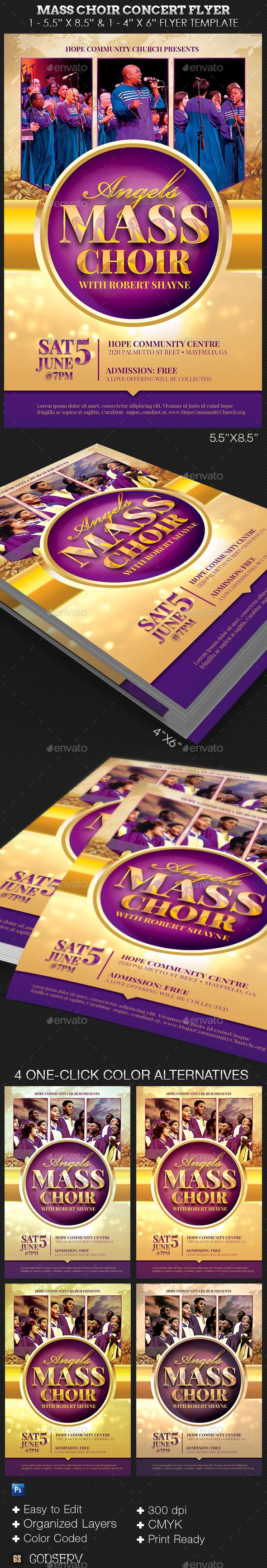 Mass Choir Concert Flyer Template  Concert Flyer Flyer Template