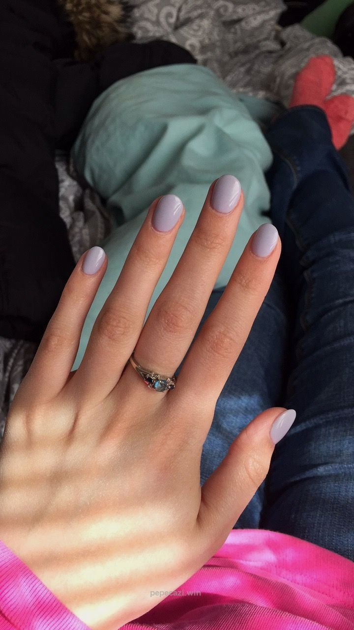 Short Lavender Acrylic Nails