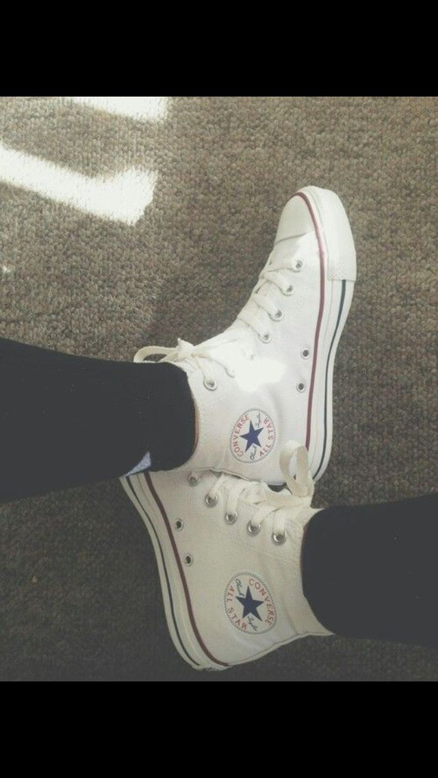 white high top converse with leggings