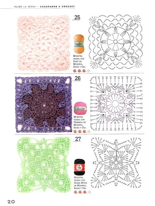 Tejer La Moda 116 - Cuadrados a Crochet