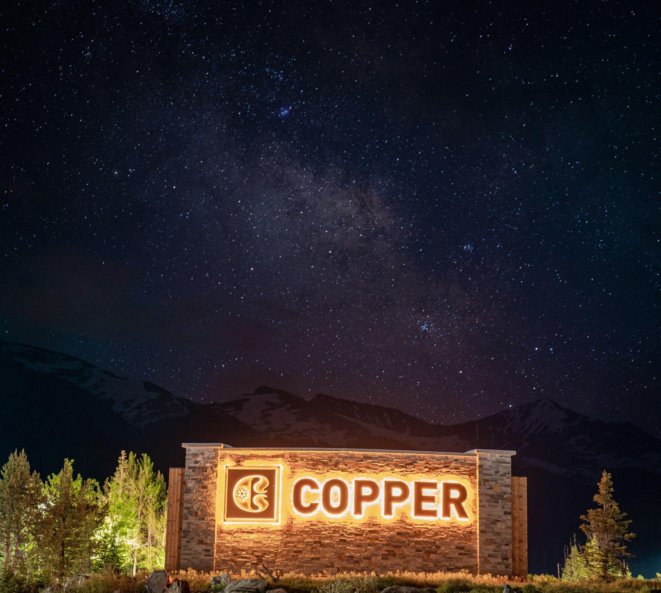 Star Gazing At Copper Mountain In Frisco, Colorado, Night