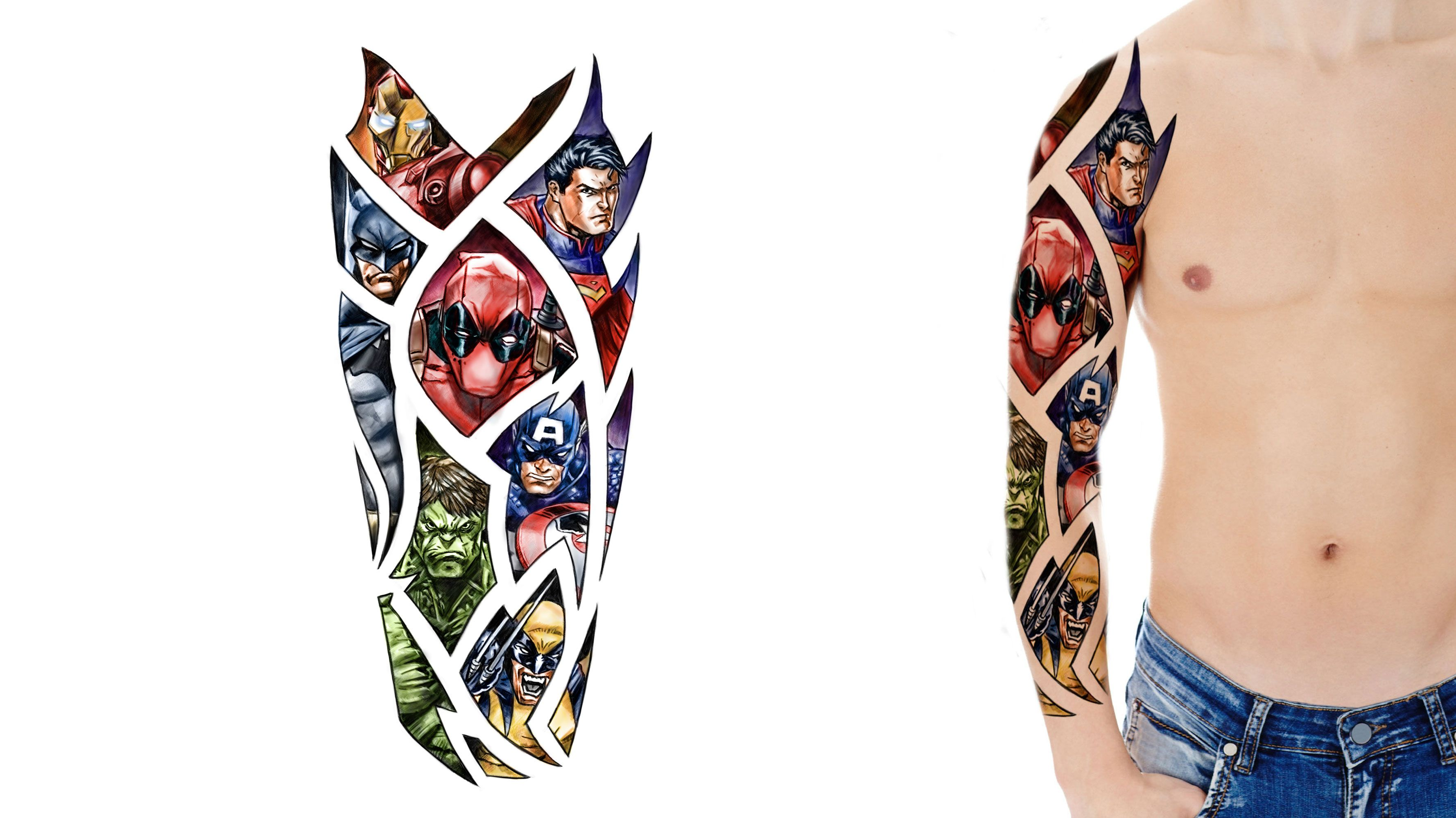 Tattoo Designs Gallery Of Artwork And Videos Marvel Tattoos Sleeve Tattoos Tattoo Designs
