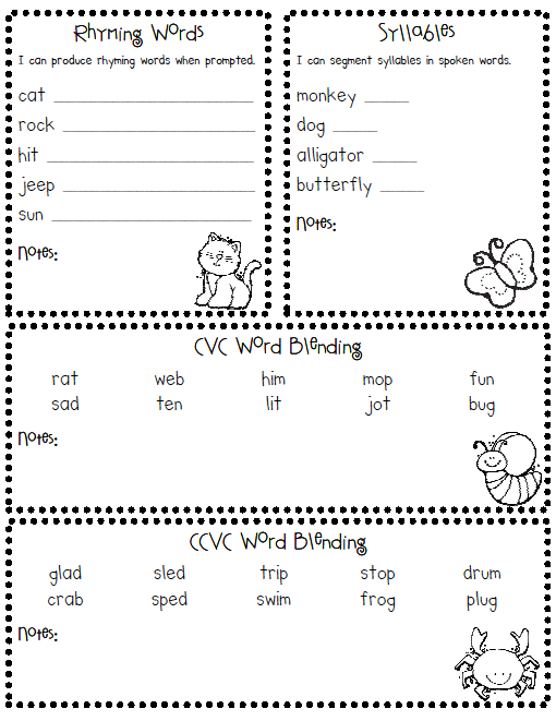 Inventive image with kindergarten assessment tests printable