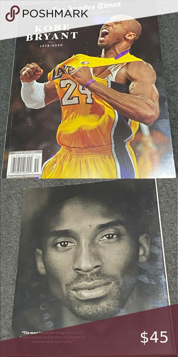 Los Angeles Times Commemorative Issue Kobe Bryant In 2020 Kobe Bryant Kobe Bryant