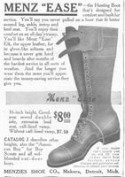 Menz Ease Hunting Boot 1911 Ad Picture