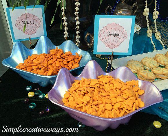 Birthday Party Ideas Under The Sea Food Menu