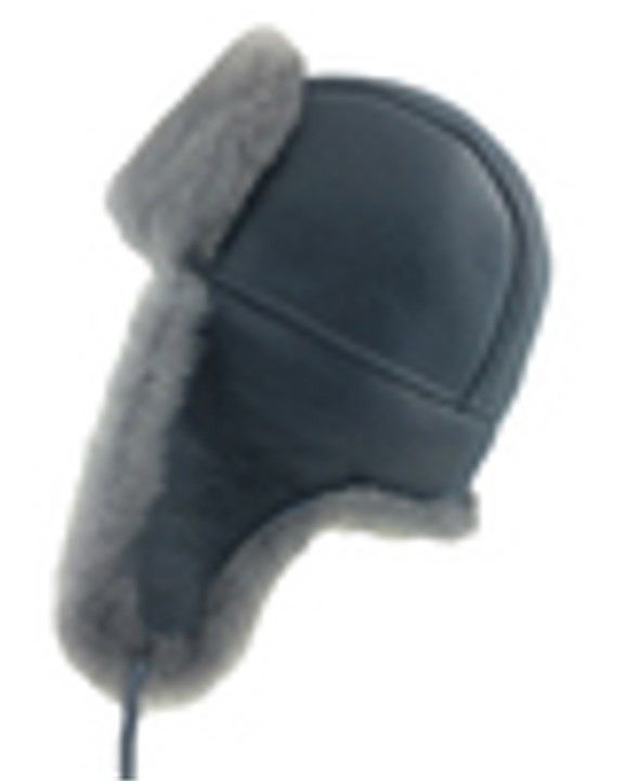 7c8c6d5d448 Glacier Wear - Genuine Sheepksin Trooper Style Fur Hat For Sale - grey  ( 59.95)