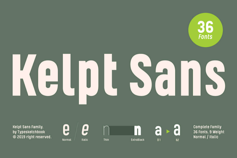 Kelpt Sans New fonts, Modern typeface, Typeface