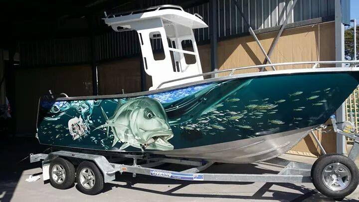 Nice Boat Wrap Art Boat Design Fishing Boats Boat Wraps